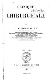 Clinique chirurgicale: Volume1