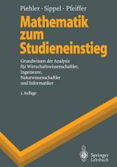 Mathematik zum Studieneinstieg: Grundwissen der Analysis für Wirtschaftswissenschaftler, Ingenieure, Naturwissenschaftler und Informatiker, Ausgabe 3