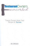 Restaurant Owners Uncorked Book