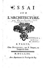 Essai sur l'architecture