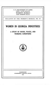 Women in Georgia industries: a study of hours, wages, and working conditions