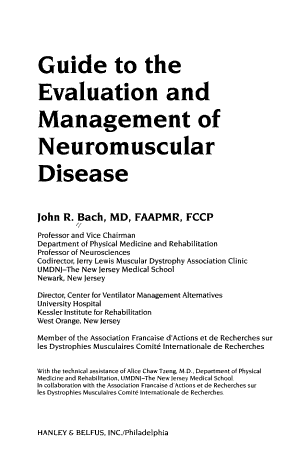 Guide to the Evaluation and Management of Neuromuscular Disease