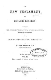 The New Testament for English Readers: The gospel of St. John, and the Acts of the Apostles