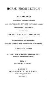 Horae Homileticae: Genesis to Leviticus