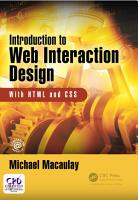 Introduction to Web Interaction Design PDF
