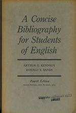 A Concise Bibliography for Students of English