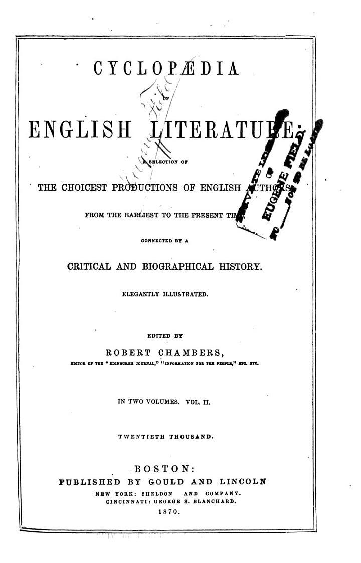 Cyclopædia of English Literature