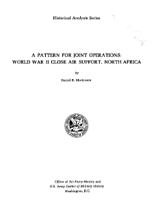 A Pattern for Joint Operations  World War II Close Air Support  North Africa PDF