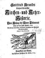 Unpartheyische Kirchen  und Ketzer Historie PDF