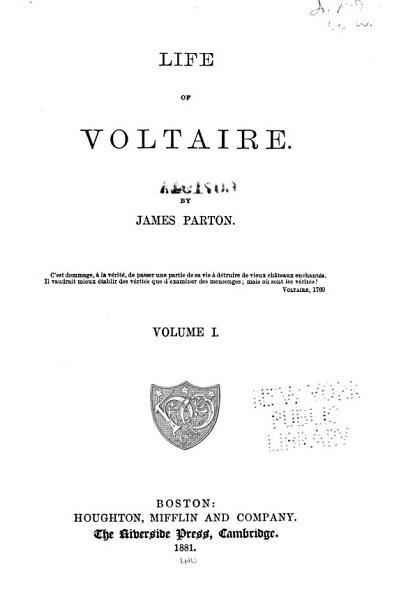 Download Life of Voltaire Book