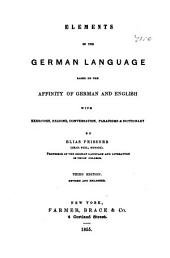 Elements of the German Language ...