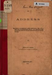 An Address Delivered in Berkeley April Thirtieth, 1889: At a Meeting in Commemoration of the Inauguration of George Washington as President of the United States