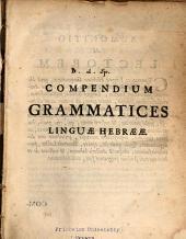 Compendium grammatices linguæ hebrææ