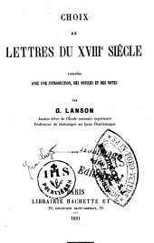 Choix de lettres du XVIIIe siècle