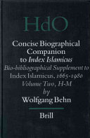 Concise Biographical Companion to Index Islamicus