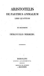 De partibus animalium libri IV