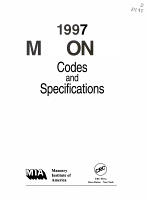 1997 MASONRY Codes and Specifications PDF