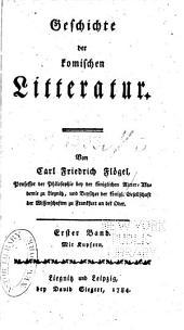 Geschichte der komischen Litteratur: Band 1