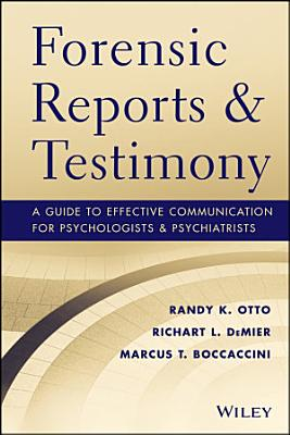 Forensic Reports and Testimony PDF