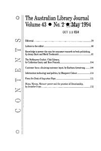 Australian Library Journal PDF