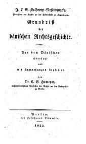 Grundriß der dänischen Rechtsgeschichte