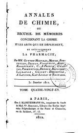 Annales de chimie, ou, Recueil de mémoires concernant la chimie et les arts qui en dépendent