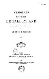 Mémoires du prince de Talleyrand...