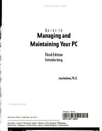 Guide to Managing and Maintaining Your PC  Introductory PDF