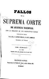 Fallos de la Corte suprema de justicia de la nación: con la relación de sus respectivas causas, Volumen 25