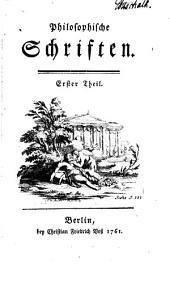 Philosophische Schriften: Bände 1-2