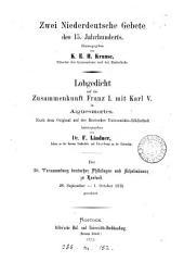Lobgedicht auf die Zusammenkunft Franz i. mit Karl v. in Aiguesmortes, herausg. von F. Lindner