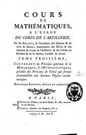 Cours de mathématiques, à l'usage du corps de l'artillerie: Volume3