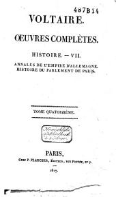 Œuvres complètes de Voltaire: Volume44