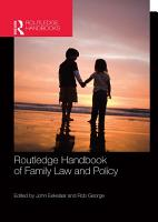 Routledge Handbook of Family Law and Policy PDF