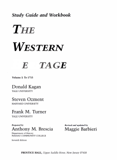 The Western Heritage to 1715 Book