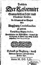 Probstein der reformirt evangelischen Lehr und Glaubensartiklen