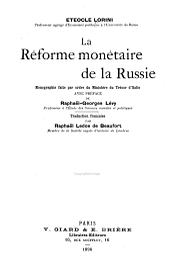 La réforme monétaire de la Russie: monographie faite par ordre du ministère du trésor d'Italie