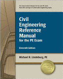 Civil Engineering Reference Manual for the PE Exam Book