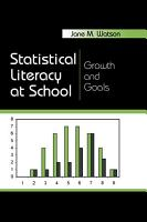 Statistical Literacy at School PDF