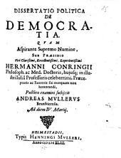 Diss. polit. de democratia