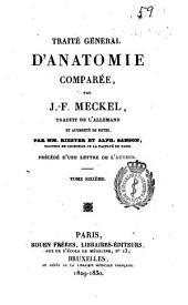 Traité général d'anatomie comparée: Volume6