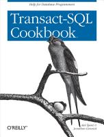 Transact SQL Cookbook PDF