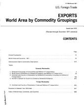 U.S. Foreign Trade: Exports, world area by commodity groupings, Volume 3