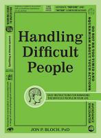 Handling Difficult People PDF