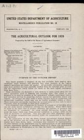 The Agricultural Outlook for 1928
