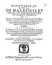 Disputatio iuridica, De maleficis et sagis, ut vocant: in theses aliquot coniecta