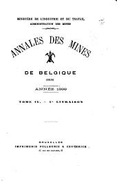 Annales des mines de Belgique: Annalen der mijnen van Belgie, Volume4
