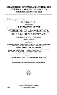 Departments of State and Justice  the Judiciary  and Related Agencies Appropriations  United States Information Agency PDF