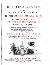 Doctrina gratiæ: sive, Compendium theologiæ dogmaticæ