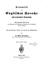 Grammatik der englischen Sprache nebst methodischem   bungsbuche PDF